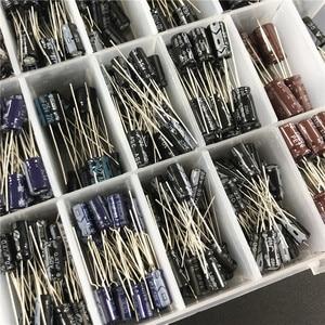 Image 3 - Kit surtido de condensadores electrolíticos con caja de almacenamiento, 24 valores, 550 Uds. De 16V/25V/35/50V (0,1 uF a 2200uF)