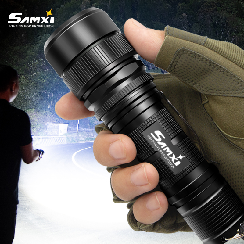 Samxi High Power Rechargeable LED Flashlight XHP70 2 Tactical Flashlight With 26650 Battery LED Lantern For Camping Riding