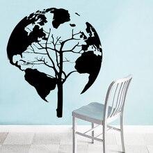 Картина с изображением дерева земли, настенные наклейки, наклейки на стену, ПВХ материал, сделай сам, Фреска для гостиной, дивана, декорации, аксессуары