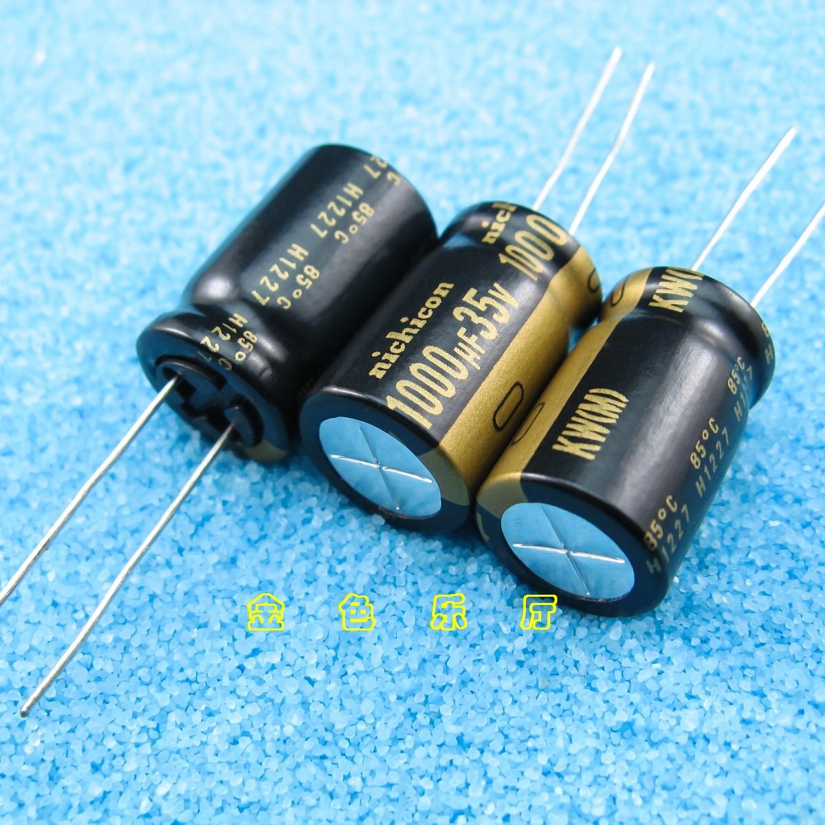 10pcs NICHICON KW 35V1000UF 12.5X20MM Audio Electrolytic Capacitor 1000uF/35v Kw 85 Degrees FW Upgrade Version 1000UF 35V