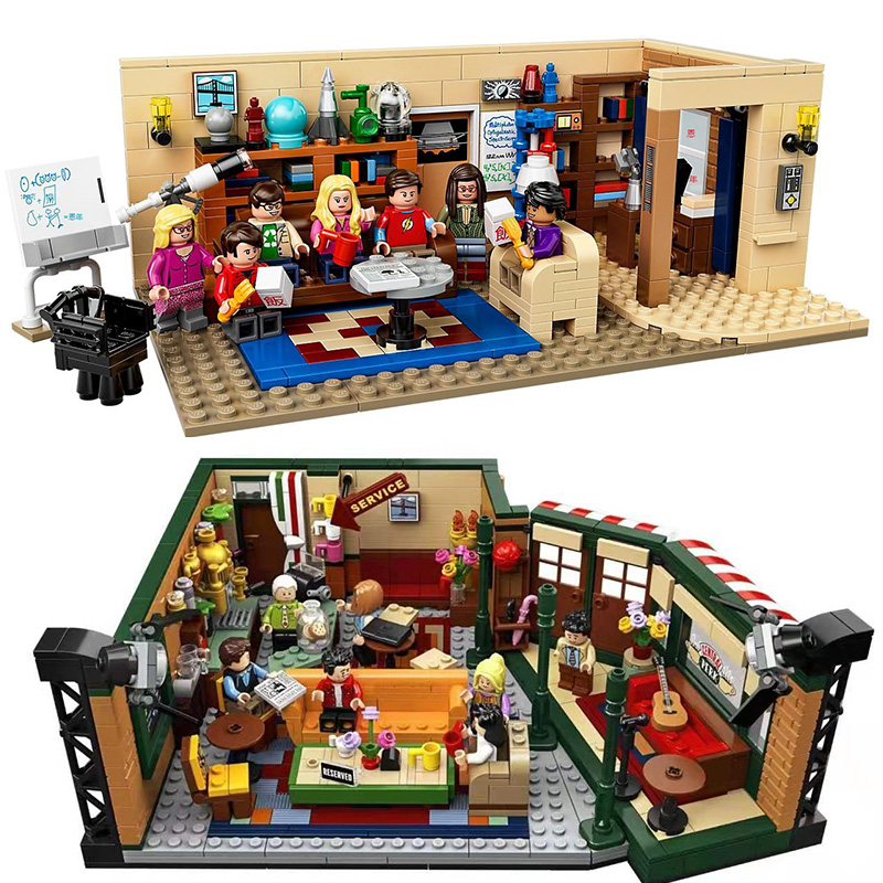 16024 In Stock The Big Bang Theory 534Pcs and Central Perk 1228Pcs Ideas Model Building Blocks Bricks Toys 21302 21319 image