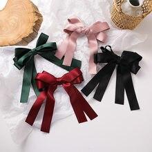 Barrettes élégantes multicolores à nœud papillon pour femmes et filles, coréen, rouge, rose, vert, grand Clip, accessoires de cheveux, pour femmes