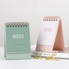 2022 simples morandi mini papel de mesa simples calendário duplo agenda planejador diário agenda anual organizador