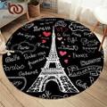 Постельные принадлежности Outlet Франция Париж башня круглые ковры с буквенным принтом для гостиной черный и белый напольный коврик детский и...