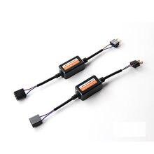 Ovehel 2 pçs h1 h11 h4 h7 led 9005 9006 canbus carro farol decodificador fiação adaptador drl led lâmpada cancelador de erros luz nevoeiro canbus