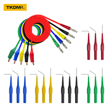 TKDMR Alligator clip to Banana plug test lead test probe connect to 4mm banana plug for electrical back probe kit test leads