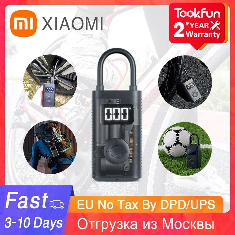 Xiaomi Mijia מתנפח אוצר אופניים משאבת אוויר חשמלי מהיר מדחס אינפלציה לחץ אופניים אופנוע Inflator משאבת