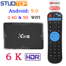 X96 H Smart Tv Box Android 9.0 IPTV Set Top Box 6K
