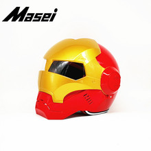 Masei Iron Man helmet motorcycle Vintage Retro helmet half helmet open face helmet casque Motocross Off Road Touring helmet masei 610 top abs moto biker helmet ktm iron man personality special fashion half open face motocross helmet matt black
