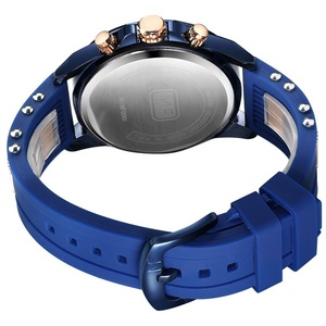 Image 4 - Minifocus moda masculina esporte relógios homem quartzo relógio analógico pulseira de silicone militar à prova dmilitary água relógio relogio masculino