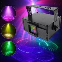 YSH Smart RGB Animation 3D Linien Laser Projektor DMX512 Control DJ Bühne Disco Party Show Lichter Weihnachten Urlaub Hochzeit Bar club