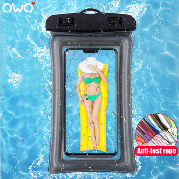 Universal Phone Waterproof Pouch For Samsung Galaxy S20 Plus A50 A70 For iPhone 11 Pro Xs Max XR 7 Swim Shower Airbag Cover Bag image
