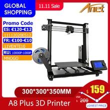 New Anet A8 plus Upgrade 3D Printer Kit Plus Size 300*300*350mm High Precision Metal Desktop 3D Printer DIY Impresora 3D