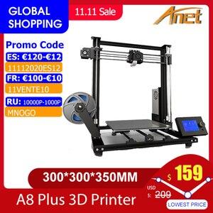 Image 1 - New Anet A8 plus Upgrade 3D Printer Kit Plus Size 300*300*350mm High Precision Metal Desktop 3D Printer DIY Impresora 3D