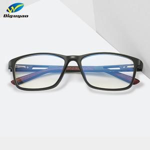 Image 2 - Diguyao 女性レトロ tr 正方形高品質男性コンピュータテレビゲーム抗青色光ガラスは、ブロッキング光眼鏡アクセサリー