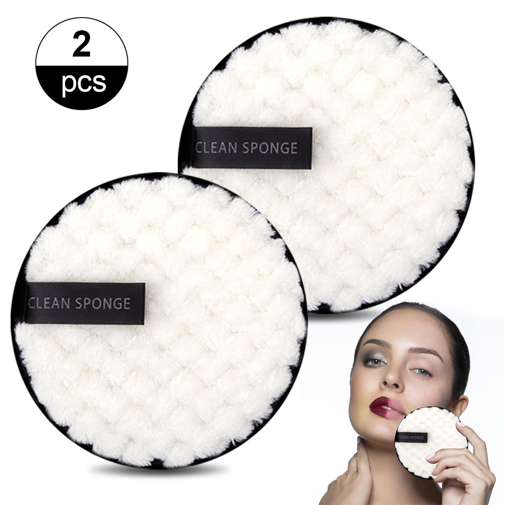 1/2pcs Reusable Makeup Remover Wipes Washable Cleansing Cotton Make Up Remove Towel Microfiber Face Reusable Make-up Disc Tools