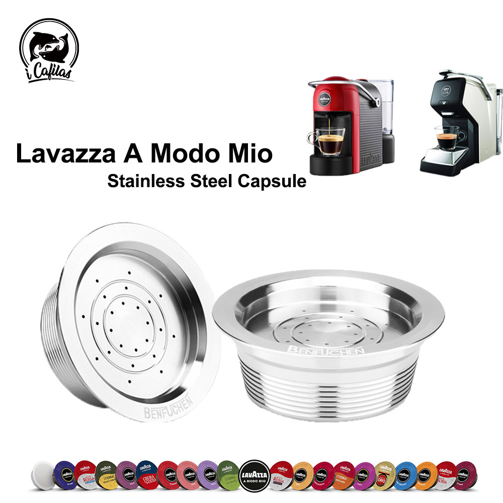Icafilas For Lavazza Mio Coffee Capsule Reusable Stainless Steel Coffee Filter For Lavazza A Modo Mio JOLIE & ESPRIA Machine