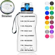 BuildLife 1.3L 2L מים בקבוק עבור Bpa משלוח Tritan חיצוני ספורט כושר כושר גארד ספורט פלסטיק שתיית בקבוק עם מסנןבקבוקי מים