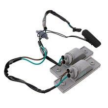 2 pces para chevrolet cruz e 2009-2014 interruptor tronco botão profissional de volta leve durável luz da placa de licença