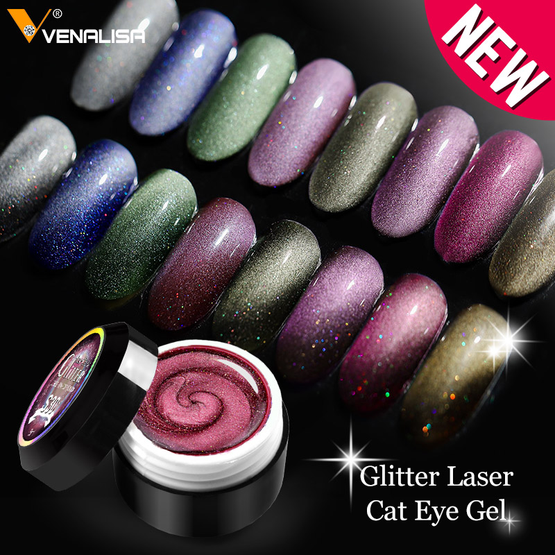 VENALISA Enamel Gel Nail Art Glitter Laser 9D Magnetic Cat Eye Paint Varnish Meteorite Aerolite Cat Eyes Gel Nail Polish Lacquer