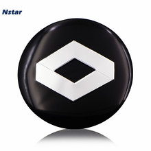 Nstar 4pcs/lot 56mm Renault Car Wheel Center Emblem Aluminum Centre Badge For Clio Koleos Scenic Espace Twingo Zoe Sticker 005