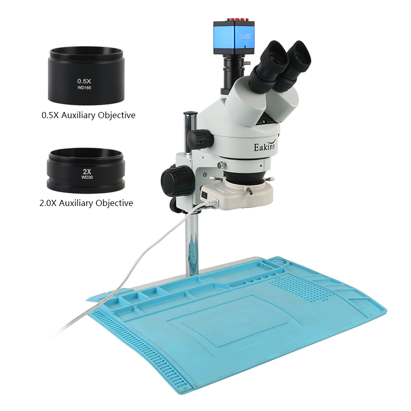 Professional Simul-Focal 3.5X-90X Trinocular Stereo Microscope +13MP SONY IMX307 HDMI/VGA Microscope Camera For PCB Soldering