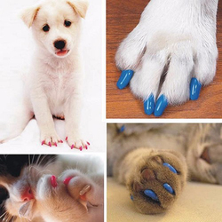 20pcs Soft Cat Nail Caps Candy Color Cat Nail Cover Quality Paw Claw Wholesale Pet Silicon Nail Protector Size XS-L Pet Nail
