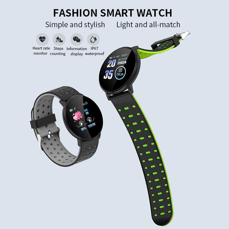 2020 inteligente pulseira relógio homem wen à prova dwaterproof água de medição pressão arterial fitness rastreador monitor freqüência cardíaca pedômetro banda inteligente
