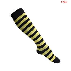Image 3 - Unisex meias de compressão para homem e mulher 4 pares 15 20 mmhg protetor de perna de enfermagem médica correndo ciclismo meias de náilon