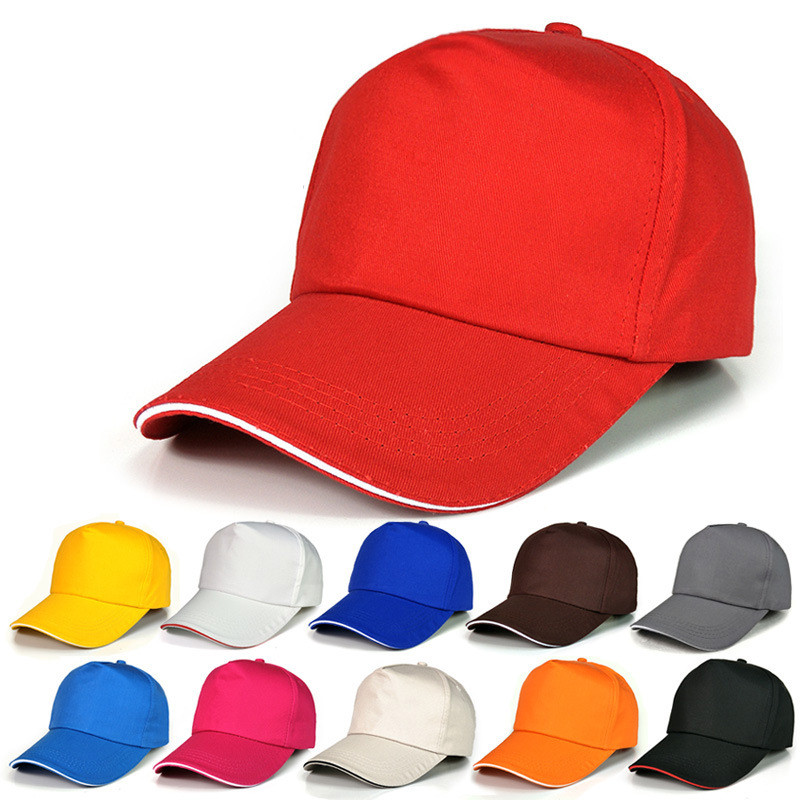 Cotton Visors Advertising Cap Custom Logo Work Hat Women's Summer Baseball Caps Casual Visor Men's Sports Baseball Cap Sun Hat