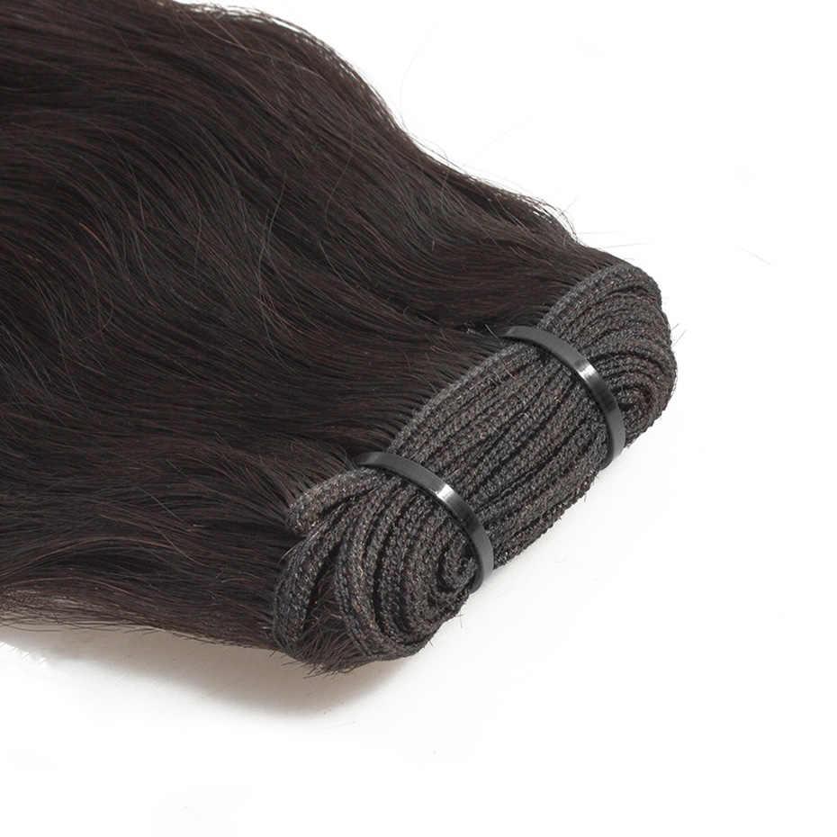 Raw Indische Reine Haarwebart Bundles Natürliche Gerade 100% Menschenhaar Verlängerung Natürliche Farbe 10-24 Zoll DJSbeauty