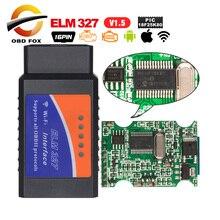 ELM327 Obd2 WIFI Coder Đầu Đọc Máy Quét Siêu Mini Elm327 V1.5 Bluetooth PIC18f25K80 Elm 327 Usb Obd Cáp Công Cụ Chẩn Đoán