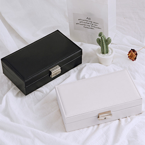 Image 5 - Jewelry Box Wedding Gift Jewelry Case Vanity Box Wooden Structure Covered with High Quality Leather Upscale Pure Color Fashion