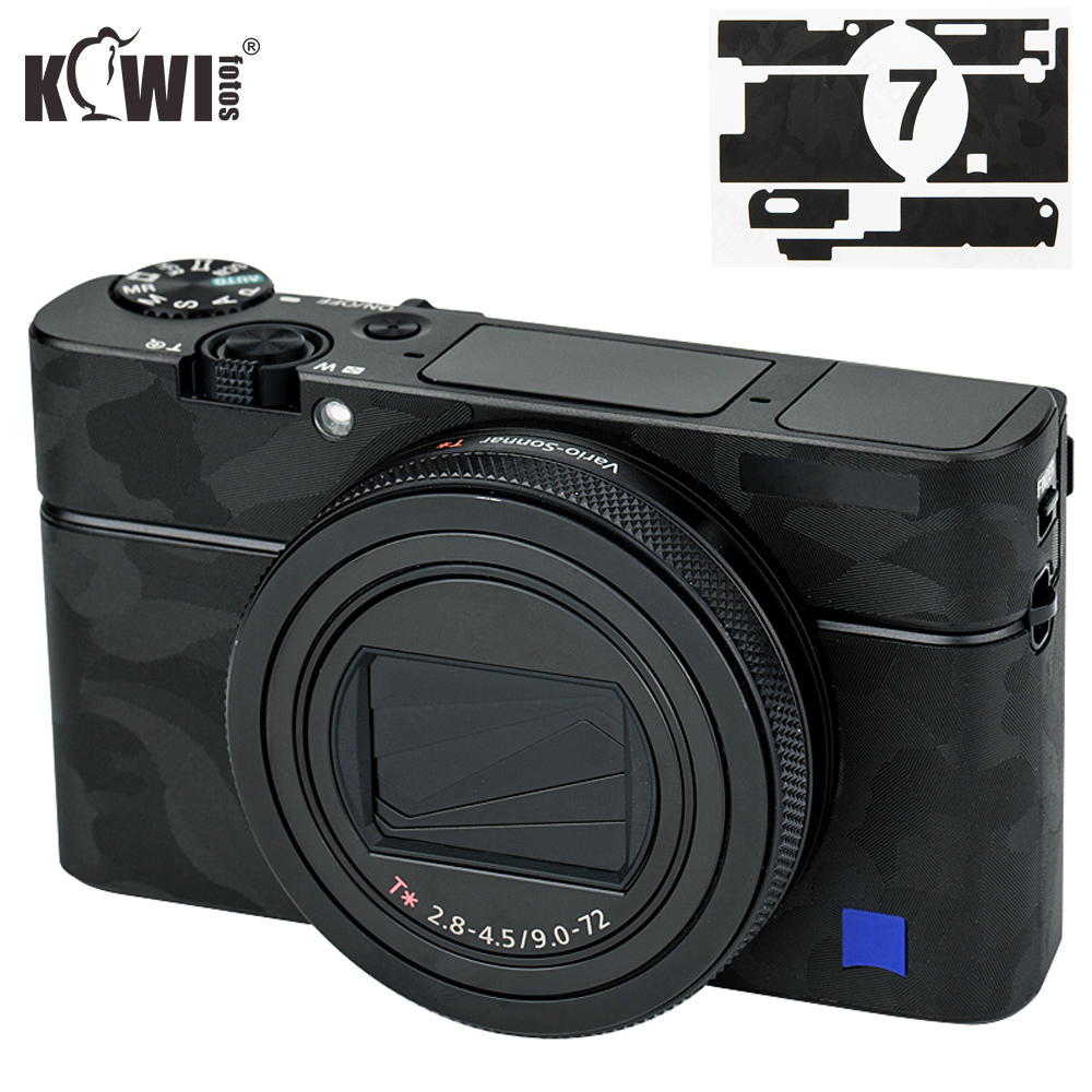 Anti-Scratch Camera Body Cover Skin Film For Sony RX100 VII RX100VII RX100M7 RX100 Mark VII Camera 3M Sticker Shadow Black