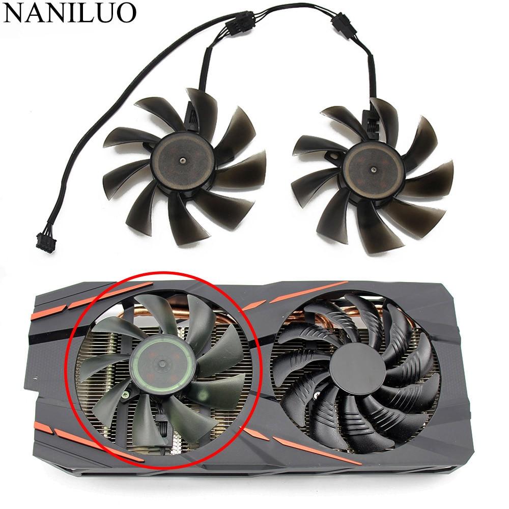 85MM T129215SU DIY Fan 4Pin Cooling Fan For Gigabyte GTX 1050 1060 1070 960 RX 470 480 570 580 Graphics Card Cooler Fan