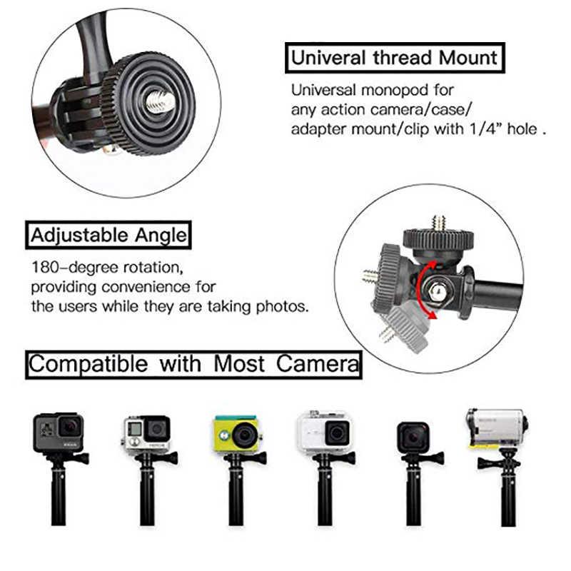 Xe Đạp nhôm Tay Lái Xe Đạp Xe Máy Leo Núi Adapter Tương Thích với GoPro Hero 7/6/5 Phiên/4/ AKASO Dũng Cảm 4/5/V50/EK7000/YI Phát Hiện Ra/Campark/Crosstour 1080P & 4K Camera Hành Động