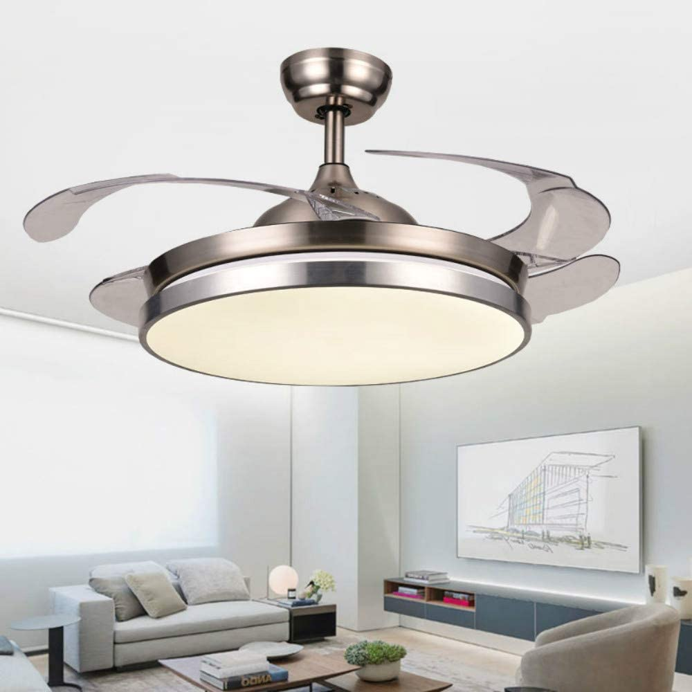 Simple Fan Lamp, Led Remote Control Lamp And Fan, Living Room Bedroom Dining Room Study Dc Ceiling Fan Lamp Ideal Gift For All Occasions