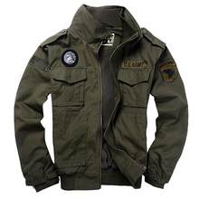 rand Men's 101 Flight Jackets Military Uniform utumn Winter Multi-pocketed Thick Male Casual Jacket Coat Men parkas 3XL Y1620(China)