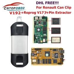 Voor Renault Kan Clip V190 Volledige Chip Met Cipres AN2135SC/2136SC Chip Goud Pcb Board V178 Kan Clip Auto diagnostic Tool