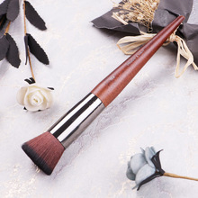 Flat head Foundation Brush BB Cream Brush Foundation Liquid Brush High end Wood Color Series