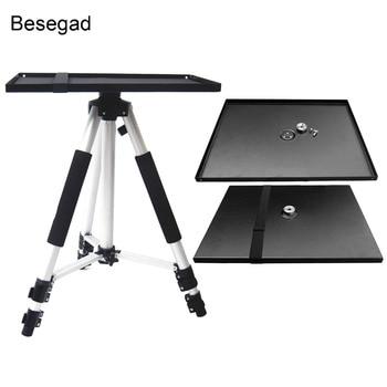 Besegad Universal Metal Tray Stand Platen Platform Holder Bracket Mount for 3/8inch Tripod Projectors Monitors Laptops