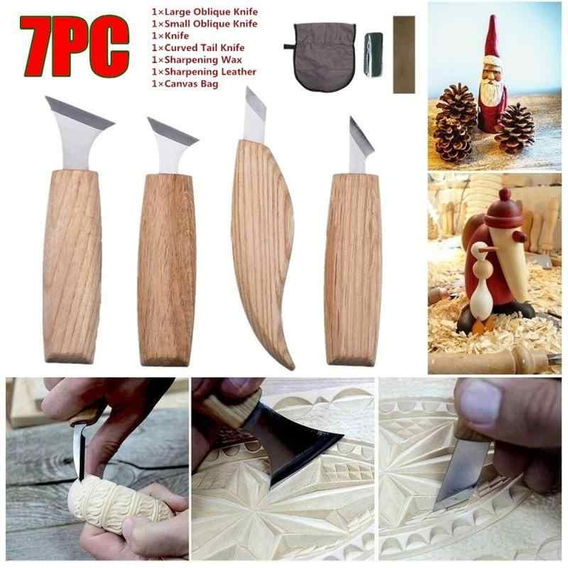 7 sztuk wysoko manganowa stal Peeling rzeźba w drewnie rzeźba w drewnie DIY drewna uchwytem łyżeczka nóż do rzeźbienia drzeworyt narzędzia