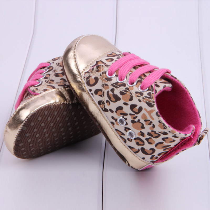 0-18 Months Leopard Shoes Newborn Baby Shoes Girls Infant Boots Kids Booties Toddler Sport Sneakers Rose Gold Shoe