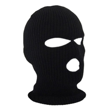 Winter Warm 3-Hole Ski Face Mask Outdoor Motorcycle Bike Cycling Neck Warmer Tactical Full Face Mask Balaclava Knit Hood Cap
