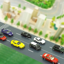 5pcs 1:150 scale LED light model car toys in different types miniature luminous car for diorama model architecture road layout цена и фото