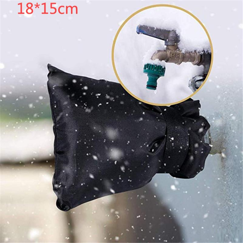 Waterproof Outside Thermal Faucet Cover Tap Oxford Cloth Faucet Antifreeze Cover Protector Winter Frost Insulated Tap Cover