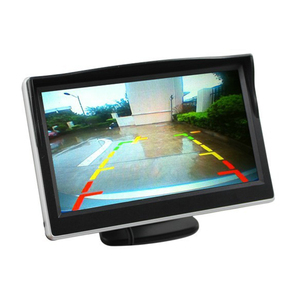 5 Inch 12V Car Monitor Car Rearview Mirror Monitor Auto Parking System 2 Way Video Input For Reverse Rear View Camera DVD VCD