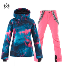 SMN Ski Suit Adult Women Winter Breathable Windproof Waterproof Warm Snowboarding Suit Outdoor Sport Jacket Pants цены онлайн