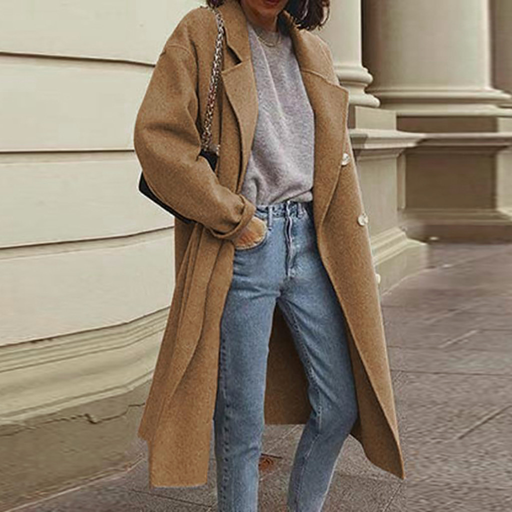 Women Elegant Slim Jack Coat Autumn Winter Casual Long Sleeve Ladies Outwear Overcoat Sweater Coats Cardigan Innrech Market.com