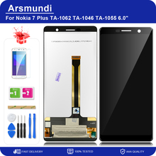 """For Nokia 7 Plus / 7Plus / E9 Plus / TA 1062 6.0"""" LCD Display Touch Screen Digitizer Assembly Replacement LCDs + Gift"""